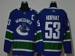 Mens Nhl Vancouver Canucks #53 Bo Horvat Blue Adidas Player Jersey