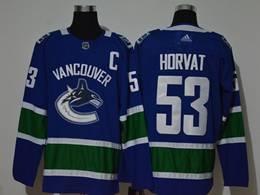 Mens Nhl Vancouver Canucks #53 Bo Horvat Blue Adidas Player Jersey