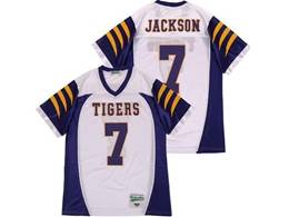Mens Ncaa Nfl Lsu Tigers #7 Jackson White Limited Player Jersey