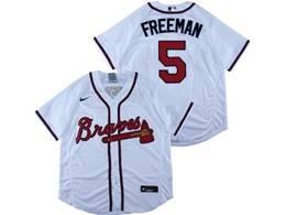 Mens Mlb Atlanta Braves #5 Freddie Freeman White Flex Base Nike Jersey