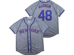 Mens Majestic New York Mets #48 Jacob Degrom Gray Cool Base Jersey