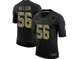 Mens Nfl Indianapolis Colts #56 Quenton Nelson Black Camo Number Nike 2020 Salute To Service Limited Jersey