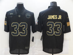 Mens Nfl Los Angeles Chargers #33 Derwin James Jr Black 2020 Nike Salute To Service Limited Jersey