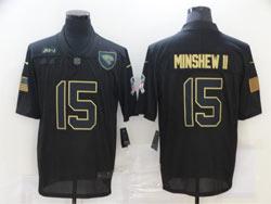 Mens Nfl Jacksonville Jaguars #15 Gardner Minshew Ii Black 2020 Nike Salute To Service Limited Jersey