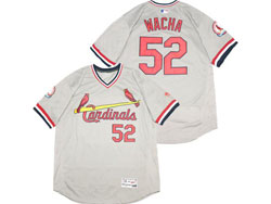 Mens Majestic St.louis Cardinals #52 Michael Wacha Gray Pullover Flex Base Jersey
