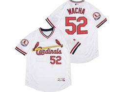 Mens Majestic St.louis Cardinals #52 Michael Wacha White Pullover Flex Base Jersey