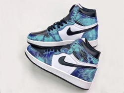 Mens And Women Air Jordan 1 Tie Dye Basketball Shoes One Color