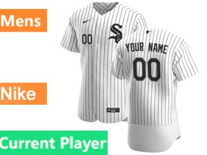 Mens Nike 2020 Chicago White Sox White Flex Base Current Player Home Jersey