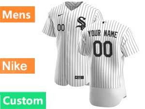 Mens Nike 2020 Chicago White Sox Custom Made White Flex Home Jersey