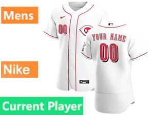 Mens Nike 2020 Cincinnati Reds White Flex Base Current Player Home Jersey