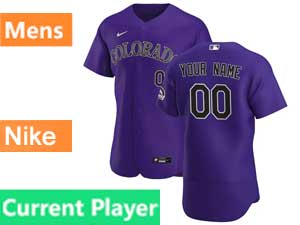 Mens Mlb Nike 2020 Colorado Rockies Current Player Flex Base Purple Alternate Jersey