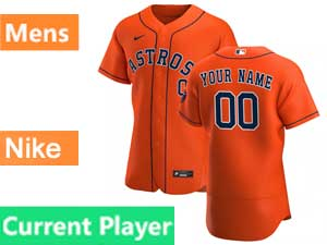 Mens Nike 2020 Mlb Houston Astros Flex Base Current Player Orange Alternate Jersey