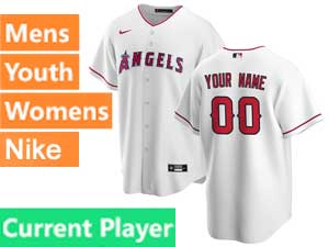 Mens Womens Youth Nike 2020 Los Angeles Angels Current Player Cool Base Red Alternate Jersey