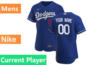 Mens Mlb Los Angeles Dodgers Current Player 2020 Nike Flex Base Blue Alternate Jersey
