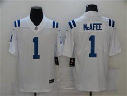 Mens Nfl Indianapolis Colts #1 Pat Mcafee White Vapor Untouchable Limited Nike Jersey