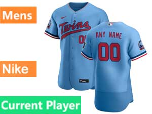 Mens Mlb Minnesota Twins Current Player Nike 2020 Alternate Blue Flex Base Jersey