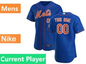 Mens New York Mets  Current Player Blue Alternate Nike 2020 Flex Base Jersey