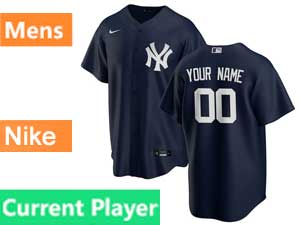 Mens New York Yankees Current Player Nike 2020 Blue Alternate Flex Base Jersey