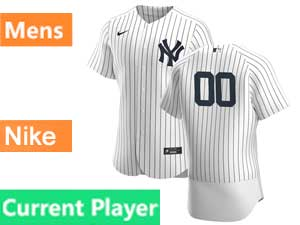 Mens New York Yankees Current Player Nike 2020 White Home Flex Base Jersey