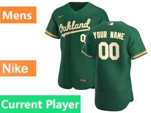 Mens Oakland Athletics Current Player Nike 2020 Green Alternate  Flex Base Jersey