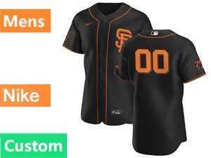 Mens Mlb San Francisco Giants Custom Made Flex Base Nike 2020 Black Alternate Jersey