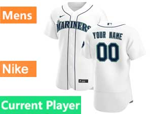 Mens Seattle Mariners Current Player Nike 2020 White Home Flex Base Jersey