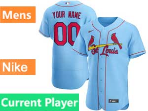 Mens St. Louis Cardinals Current Player Nike 2020 Blue Alternate Flex Base Jersey