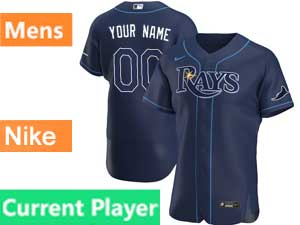Mens Mlb Tampa Bay Rays Current Player Nike 2020 Blue Alternate Flex Base  Jersey