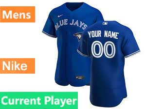 Mens Toronto Blue Jays Current Player Nike 2020 Flex Base Blue Alternate Jersey