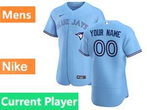 Mens Toronto Blue Jays Current Player Nike 2020 Flex Base Light Blue Alternate Jersey