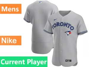 Mens Toronto Blue Jays Current Player Nike 2020 Flex Base Gray Road Jersey