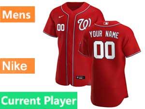 Mens Mlb Washington Nationals Current Player Nike 2020 Red Alternate Flex Base Jersey