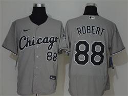 Mens Mlb Chicago White Sox #88 Luis Robert Gray Nike Flex Base Jersey