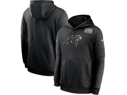 Mens Nfl Carolina Panthers Black Crucial Catch Sideline Performance Pocket Pullover Hoodie Nike Jersey