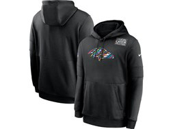 Mens Nfl Baltimore Ravens Black Crucial Catch Sideline Performance Pocket Pullover Hoodie Nike Jersey