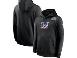 Mens Nfl New York Giants Black Crucial Catch Sideline Performance Pocket Pullover Hoodie Nike Jersey