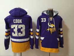 Mens Nfl Minnesota Vikings #33 Dalvin Cook Purple Pocket Pullover Hoodie