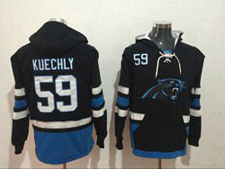 Mens Nfl Carolina Panthers #59 Luke Kuechly Black Pocket Pullover Hoodie