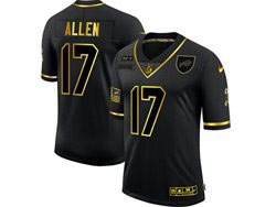 Mens Nfl Buffalo Bills #17 Josh Allen Black Retro Golden 2020 Salute To Service Limited Jersey