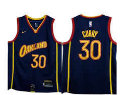 Mens Nba Golden State Warriors #30 Stephen Curry Dark Blue 2021 City Edition Swingman Nike Jersey