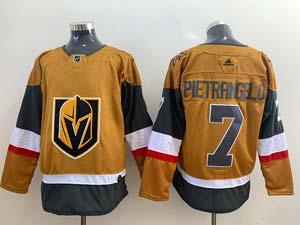 Mens Nhl Vegas Golden Knights #7 Alex Pietrangelo Gold Alternate Adidas Player Jersey