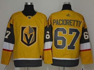 Mens Nhl Vegas Golden Knights #67 Max Pacioretty Gold Alternate Adidas Player Jersey
