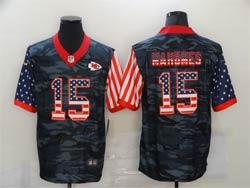 Mens Nfl Kansas City Chiefs #15 Patrick Mahomes 2020 Camo Usa Flag Salute To Service Limited Nike Jersey