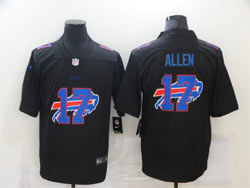 Mens Nfl Buffalo Bills #17 Josh Allen Black Shadow Logo Vapor Untouchable Limited Nike Jersey