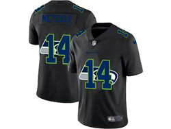 Mens Nfl Seattle Seahawks #14 Dk Metcalf Black Shadow Logo Vapor Untouchable Limited Nike Jersey