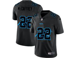 Mens Nfl Carolina Panthers #22 Christian Mccaffrey Black Shadow Logo Vapor Untouchable Limited Nike Jersey