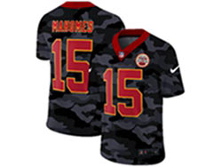 Mens Nfl Kansas City Chiefs #15 Patrick Mahomes 2020 Camo Red Number Vapor Untouchable Limited Nike Jersey