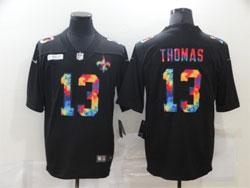 Mens Nfl New Orleans Saints #13 Michael Thomas Black Rainbow Vapor Untouchable Limited Nike Jersey