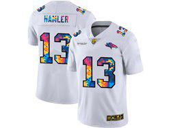 Mens Nfl Denver Broncos #13 K.j. Hamler White Rainbow Vapor Untouchable Limited Nike Jersey
