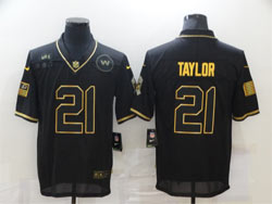 Mens Nfl Washington Redskins #21 Sean Taylor Black Retro Golden 2020 Salute To Service Limited Jersey